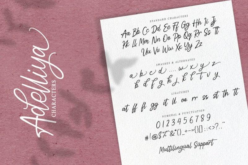 Download Adelliya font (typeface)