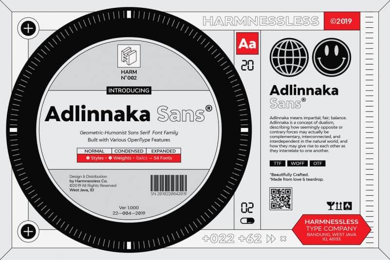 Download Adlinnaka font (typeface)
