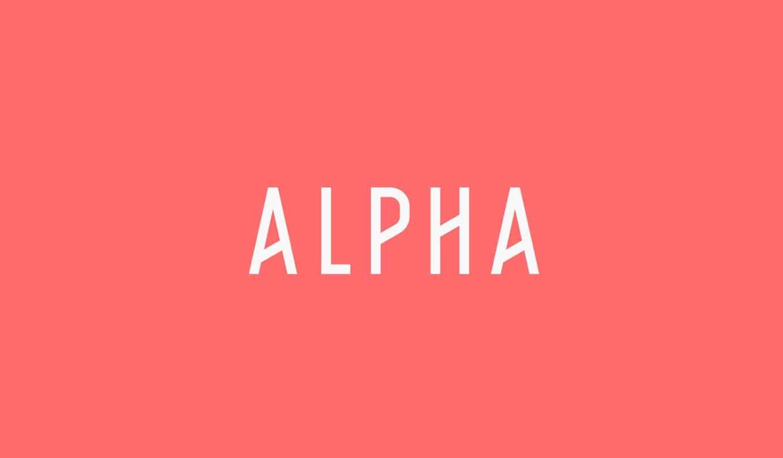 Download Alpha font (typeface)