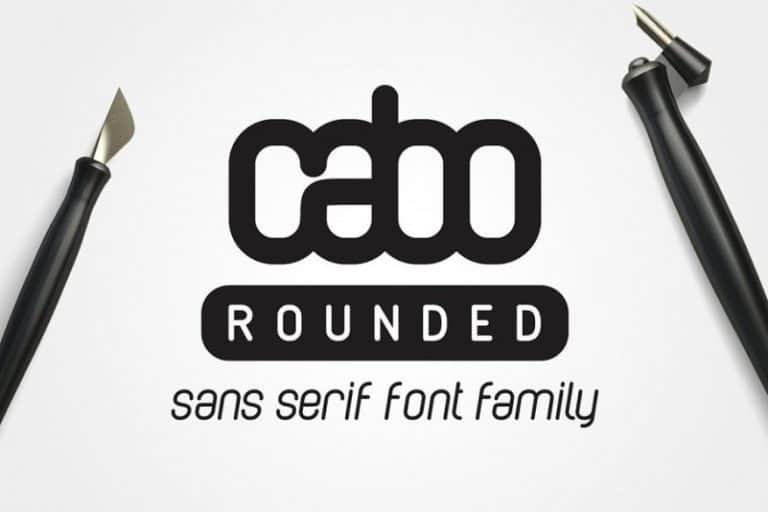 Download Cabo Rounded and Slab font (typeface)