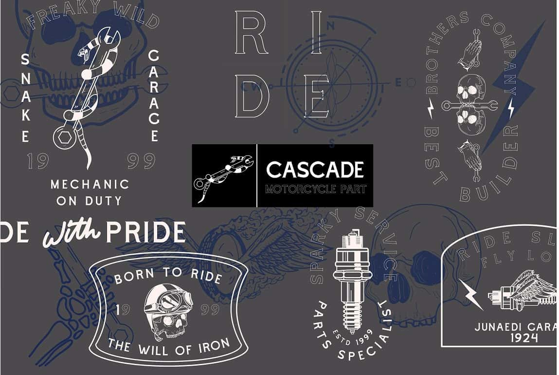 Download Cascade Motorcycle font (typeface)