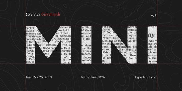 Download Corsa Grotesk font (typeface)