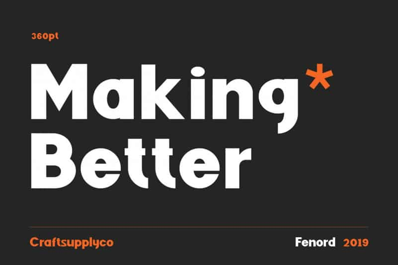 Download Fenord font (typeface)