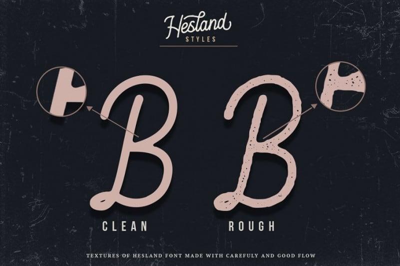 Download Hesland font (typeface)