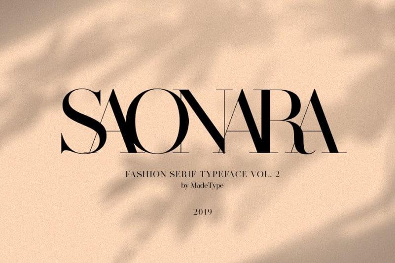 Download Saonara font (typeface)