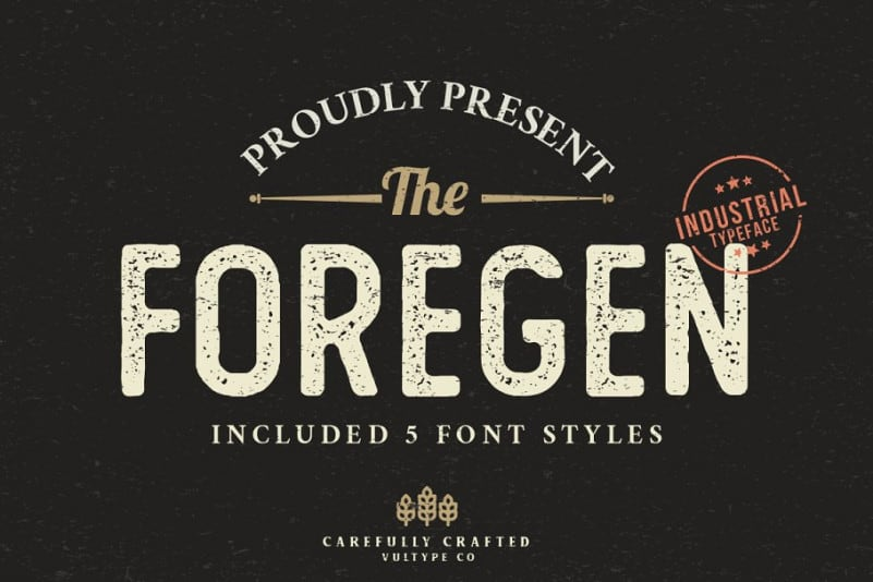 Download The Foregen font (typeface)