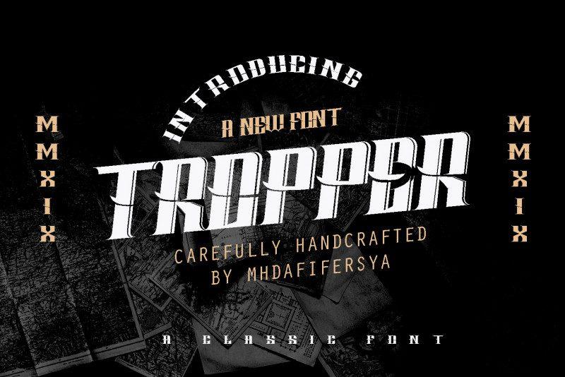 Download Tropper font (typeface)