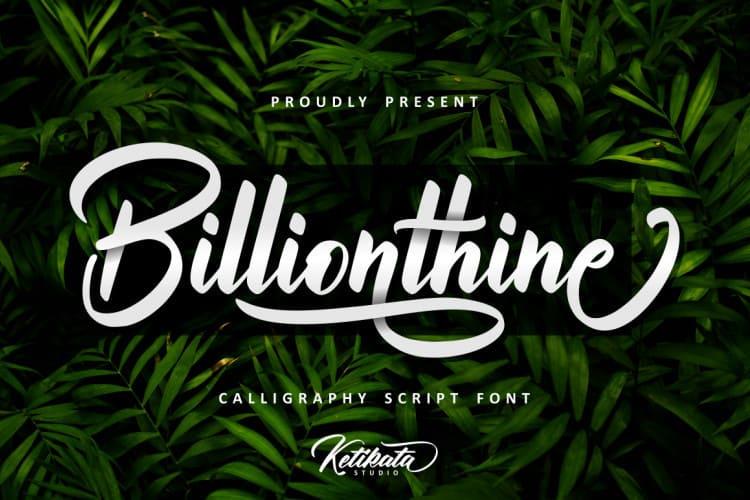 Download Billionthine font (typeface)