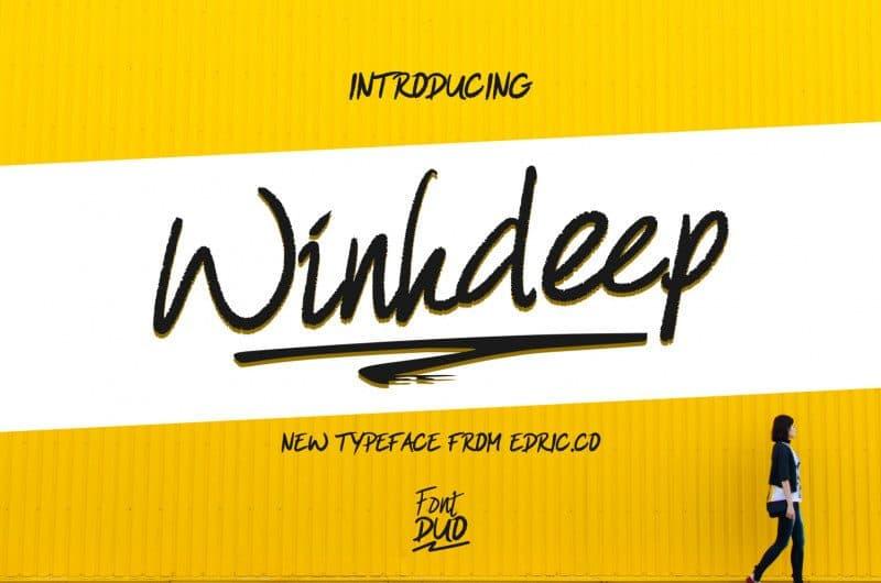 Download Wink Deep font (typeface)