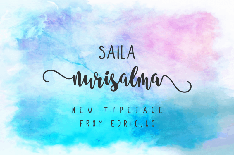 Download Saila Nurissalma font (typeface)