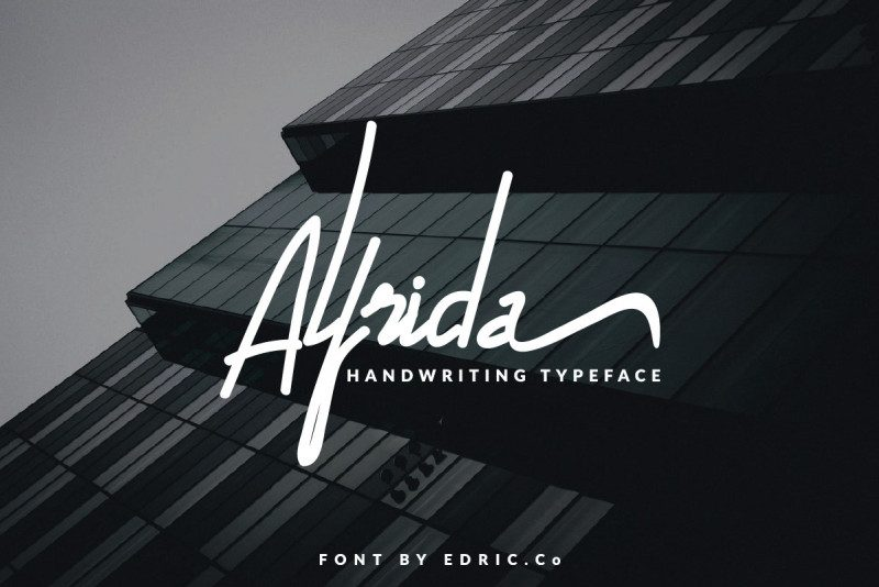 Download Alfrida font (typeface)