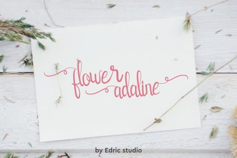Download Flower Adaline font (typeface)