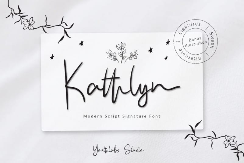 Download Kathlyn font (typeface)