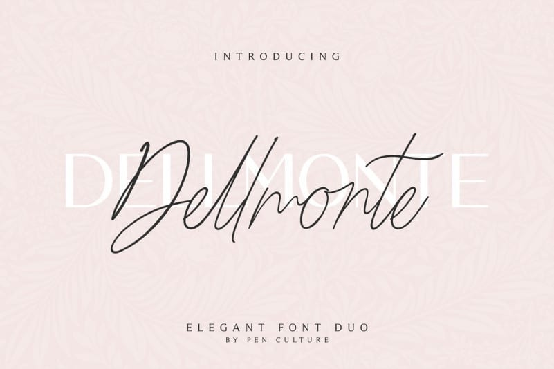 Download Dellmonte font (typeface)