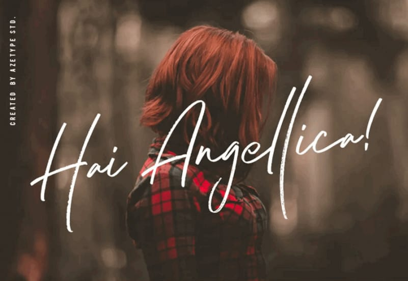 Download Hai Angellica font (typeface)