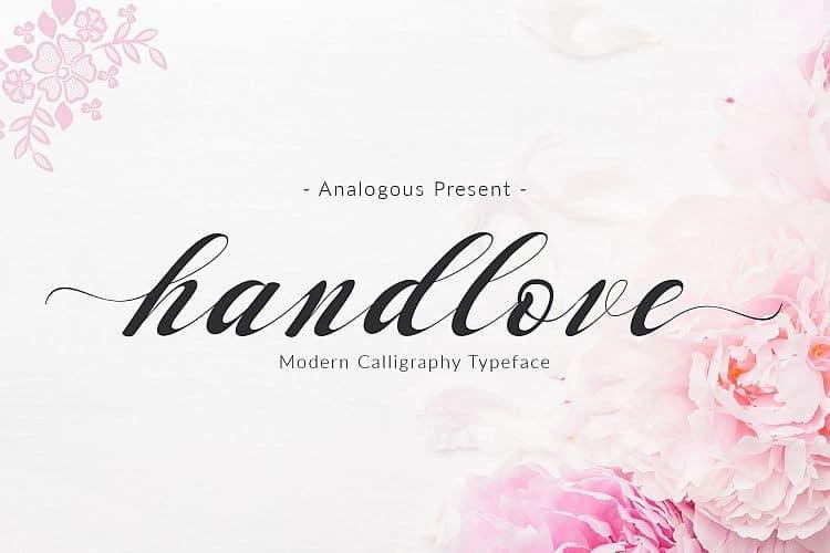 Download Handlove font (typeface)