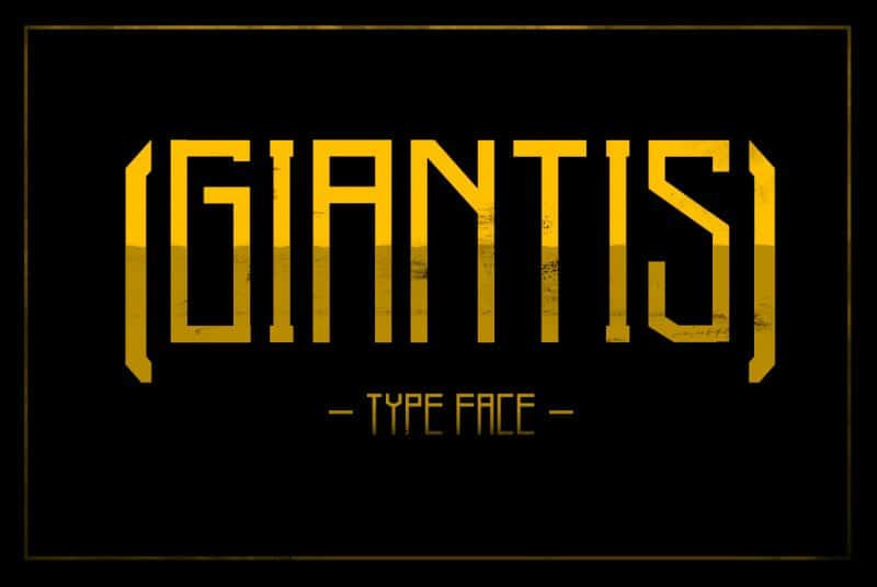 Download Giantis font (typeface)