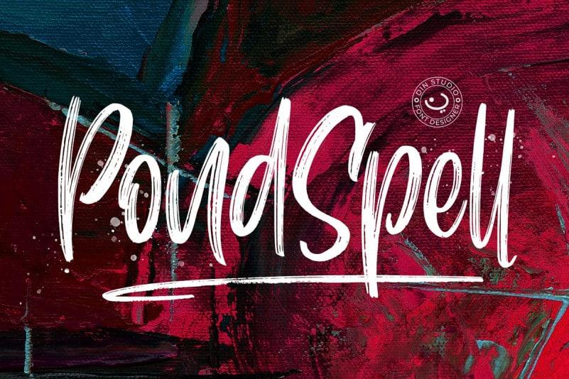 Download Pondspell font (typeface)