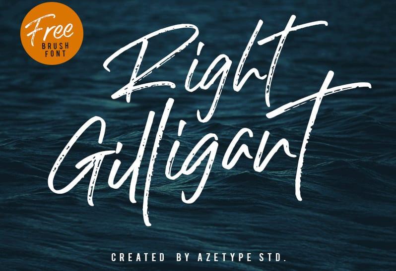 Download Right Gilligant font (typeface)
