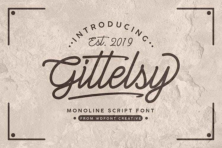 Download Gittelsy font (typeface)