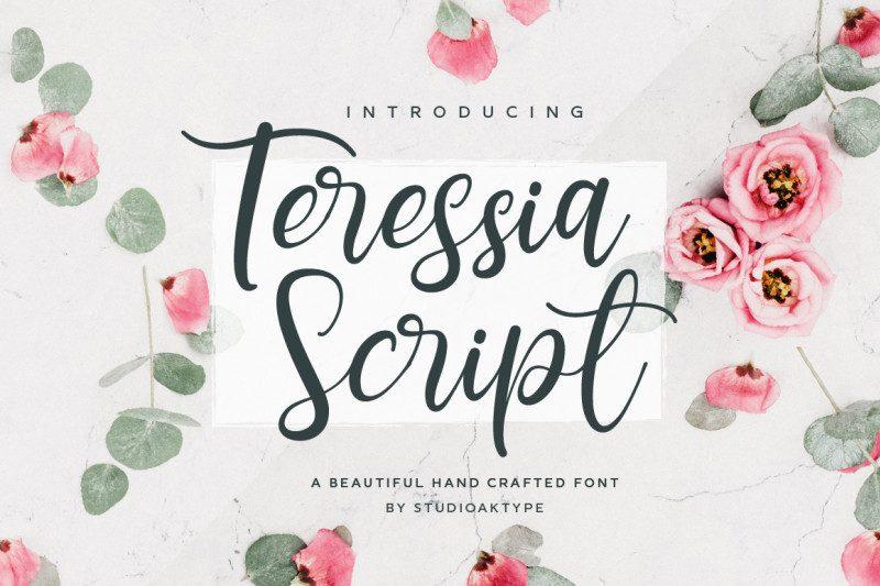 Download Teressia Script font (typeface)
