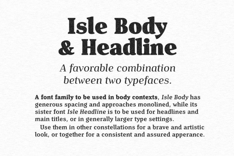 Download Isle Body font (typeface)