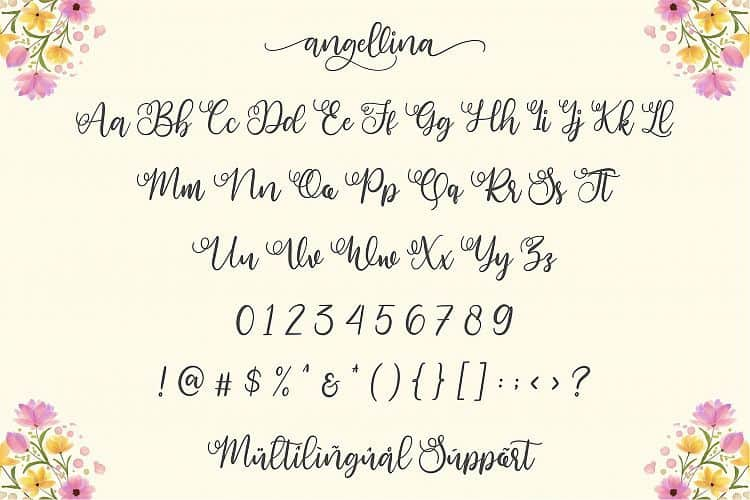 Download Angellina font (typeface)