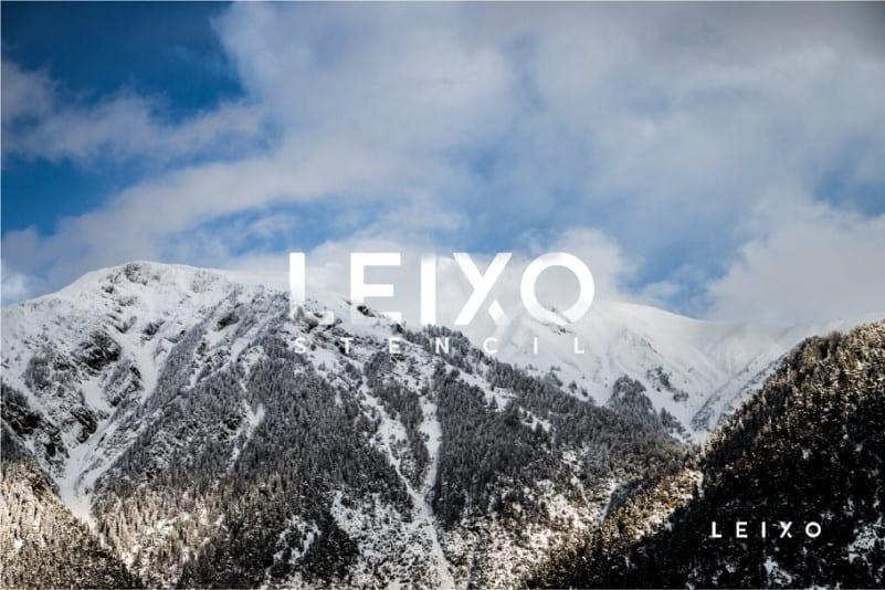 Download Leixo Stencil font (typeface)