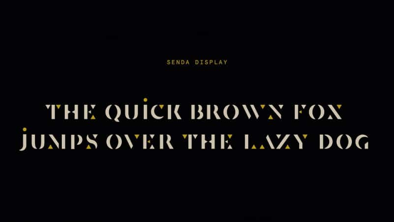 Download Senda font (typeface)