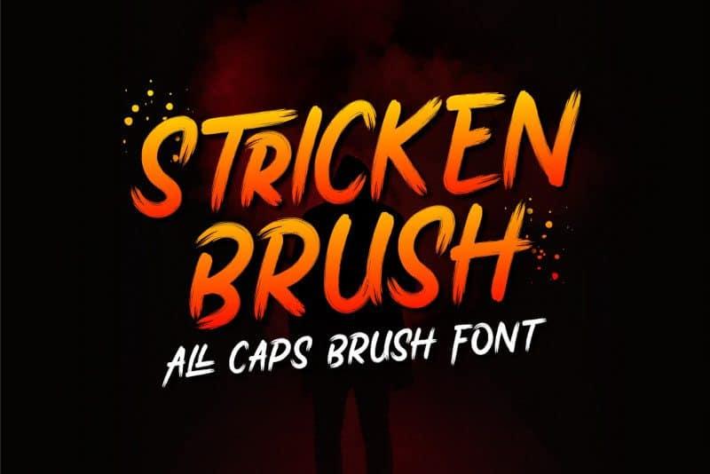 Download Stricken font (typeface)