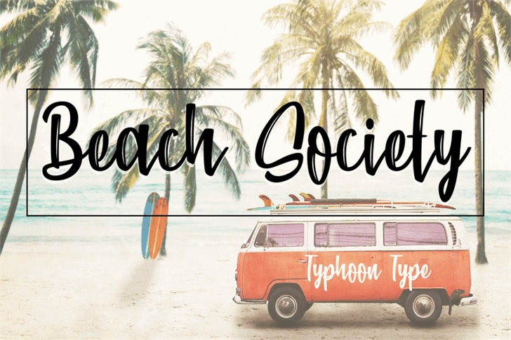 Download Beach Society font (typeface)