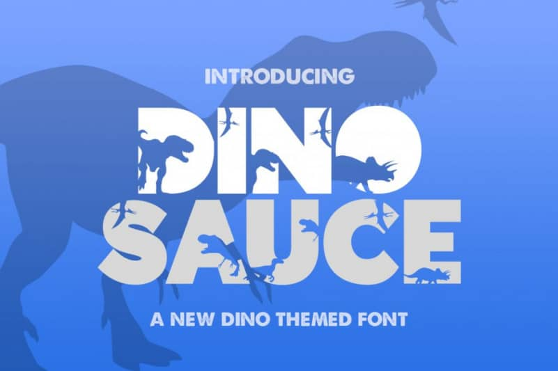 Download Dinosauce font (typeface)