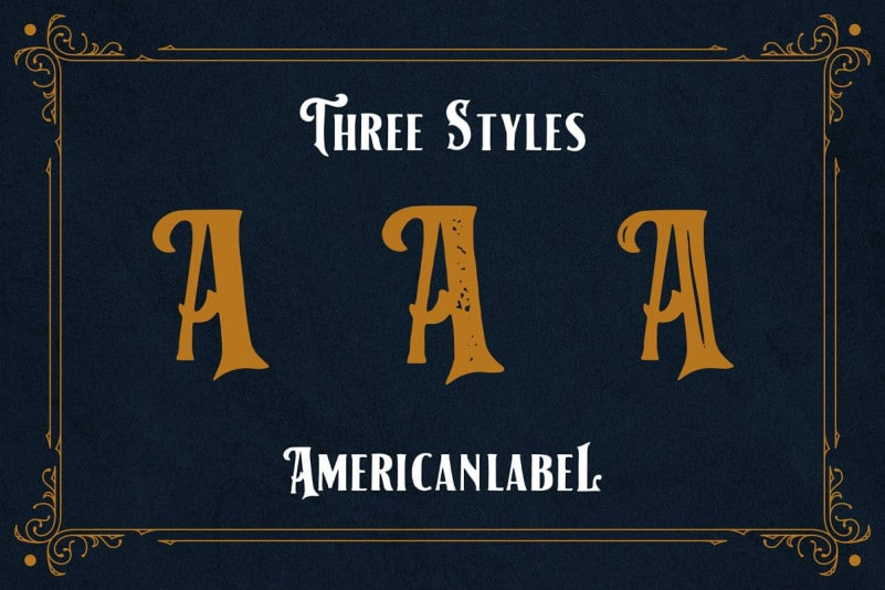 Download American Label font (typeface)