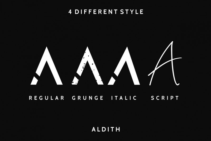 Download Aldith font (typeface)