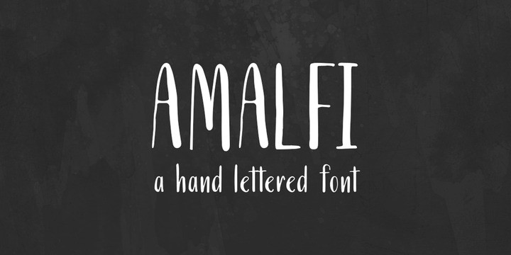 Download Amalfi font (typeface)