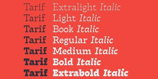 Download Tarif font (typeface)