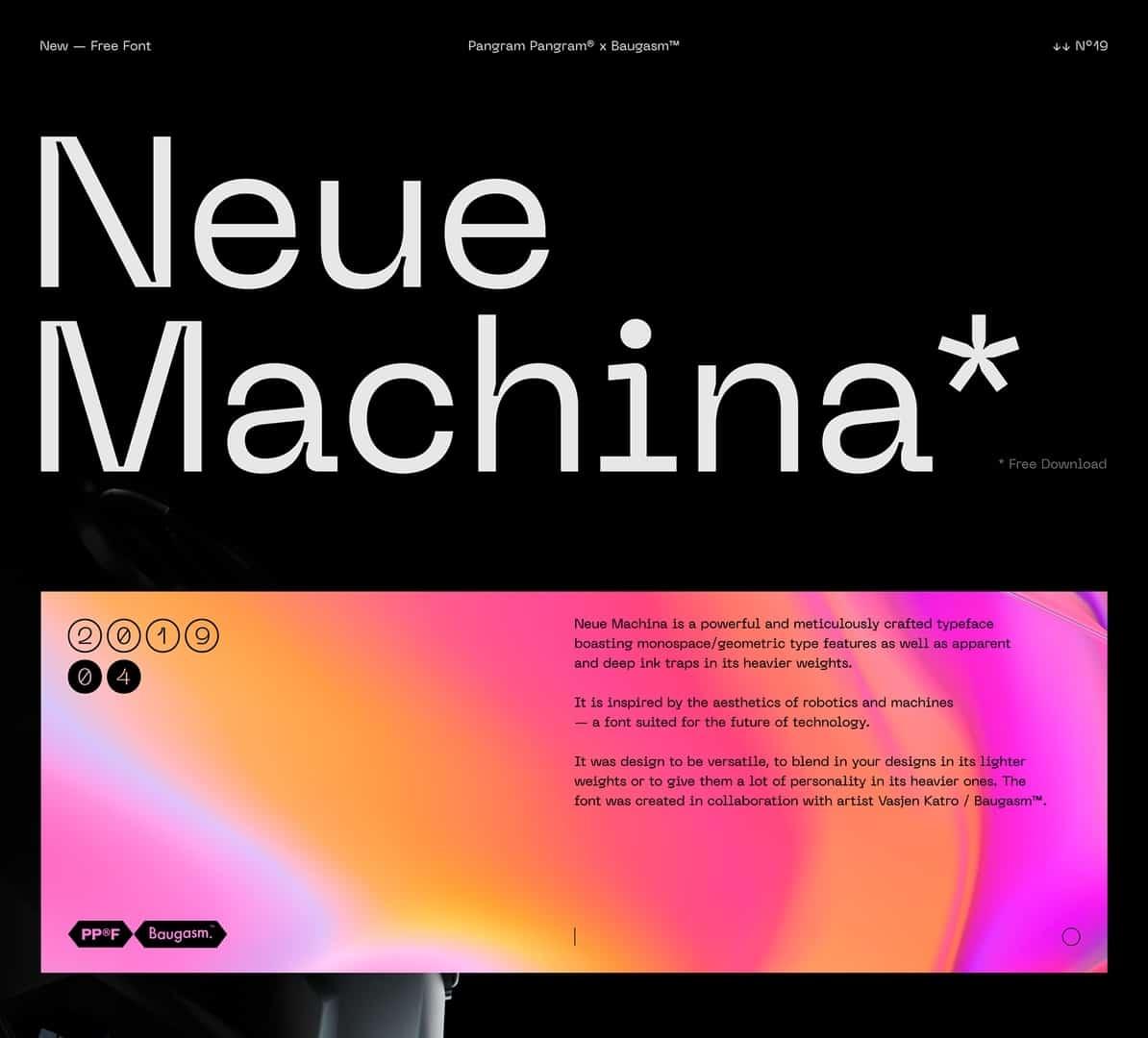 Download Neue Machina font (typeface)
