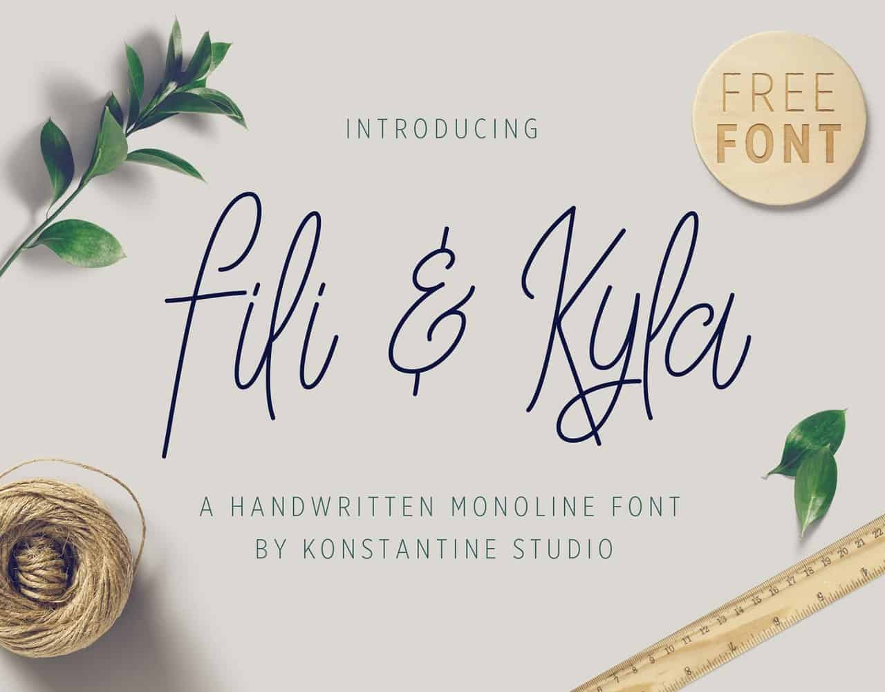 Download Fili and Kyla font (typeface)
