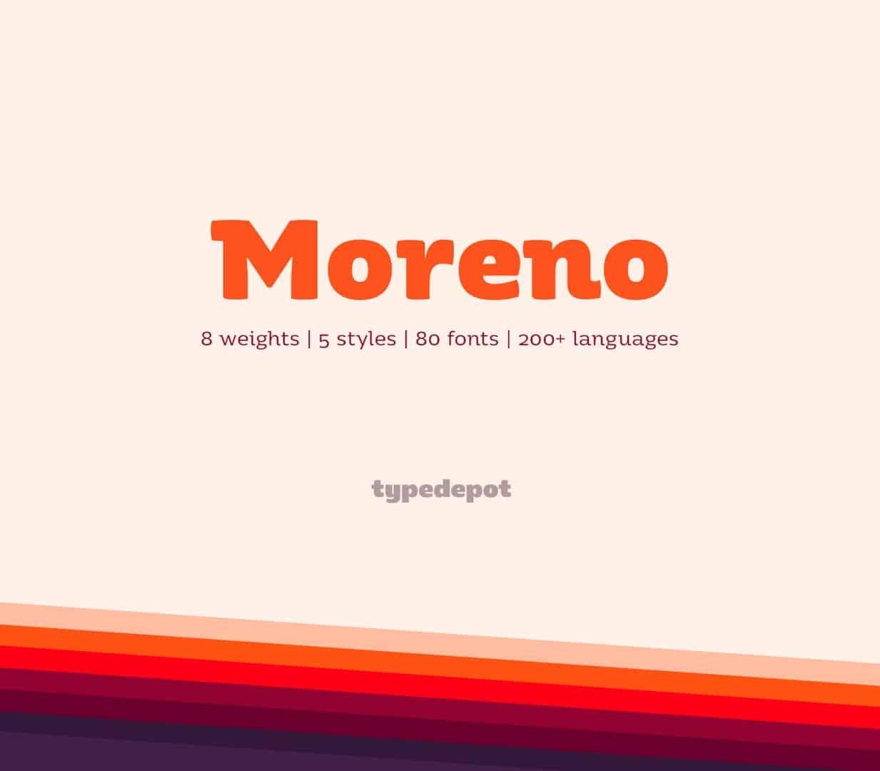 Download Moreno font (typeface)