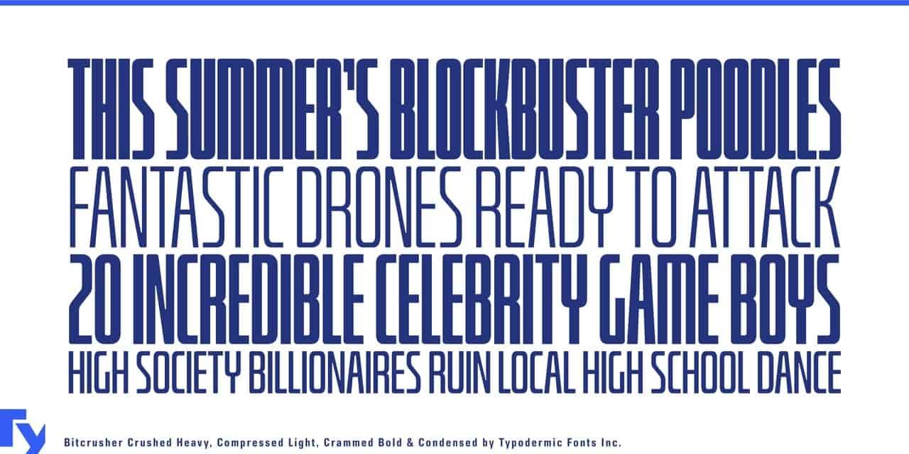 Download bitcrusher font (typeface)