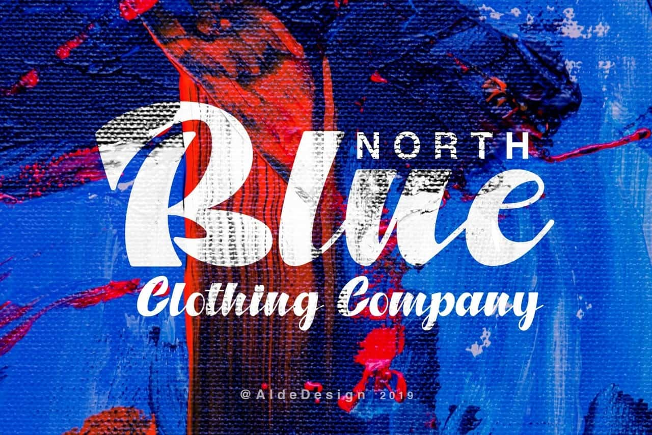 Download North blue font (typeface)