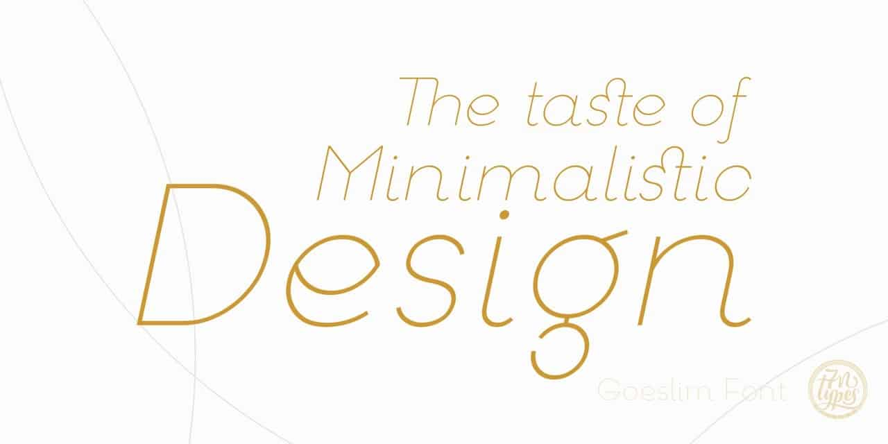 Download goeslim font (typeface)