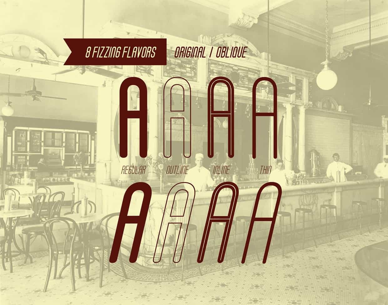 Download Soda Fountain font (typeface)