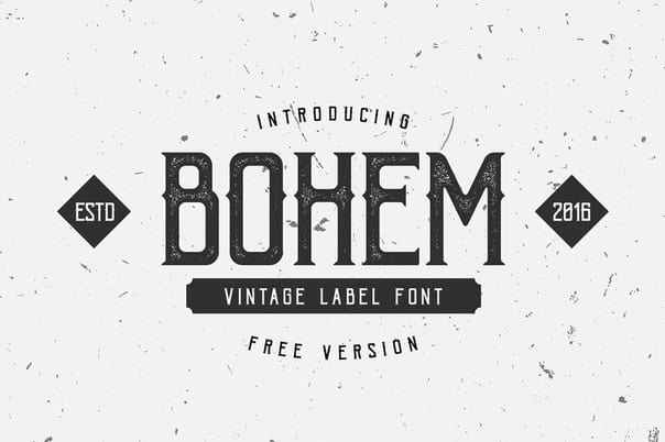 Download bohem press font (typeface)