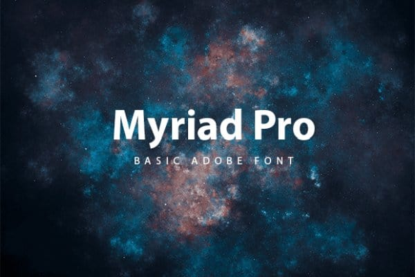 Download Myriad Pro font (typeface)