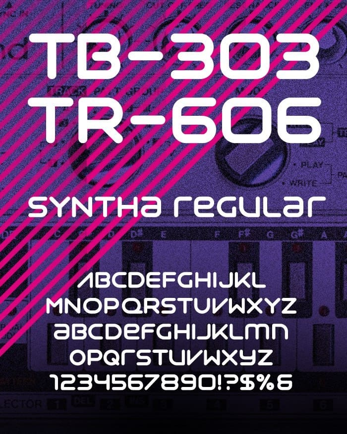 Download SYNTHESIA font (typeface)