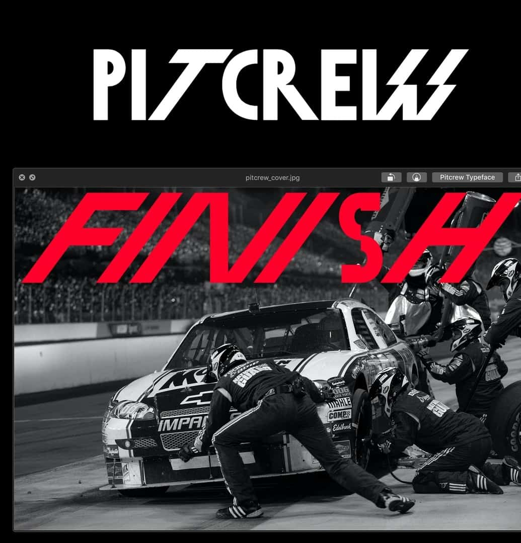 Download Pitcrew font (typeface)