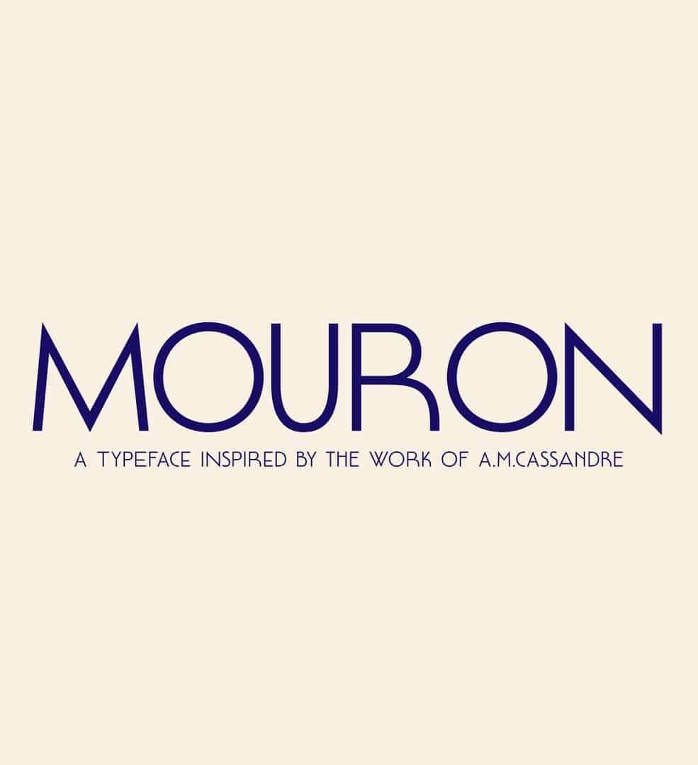 Download Mouron font (typeface)
