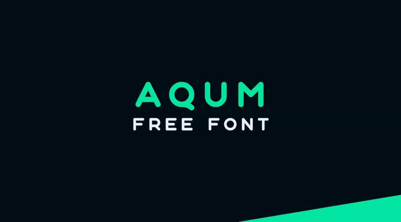 Download Aqum font (typeface)