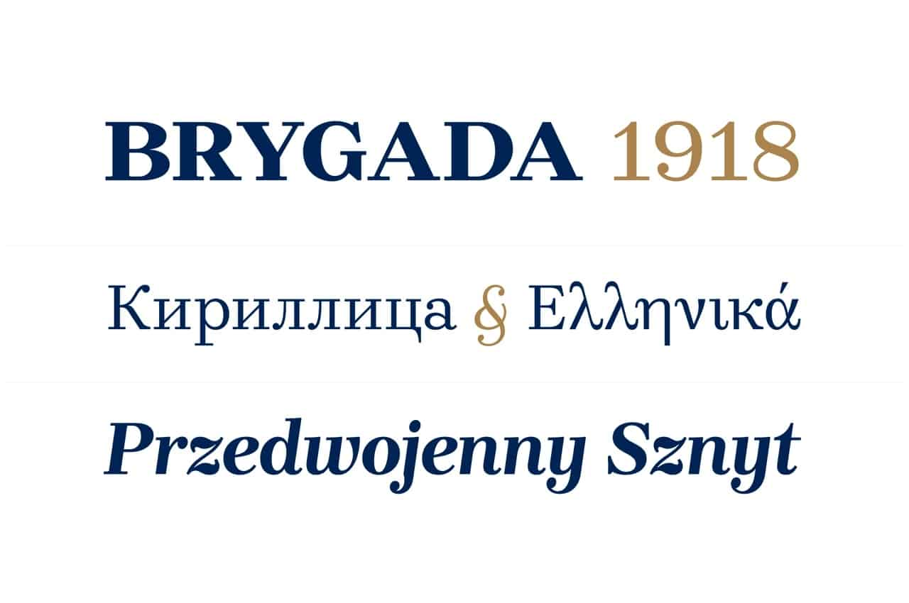 Download Brygada 1918 Family font (typeface)